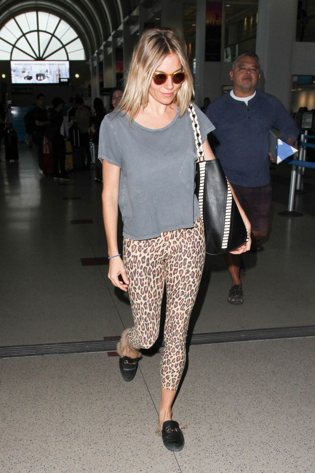 Sienna Miller is seen at LAX on October 27, 2016 in Los Angeles, California.