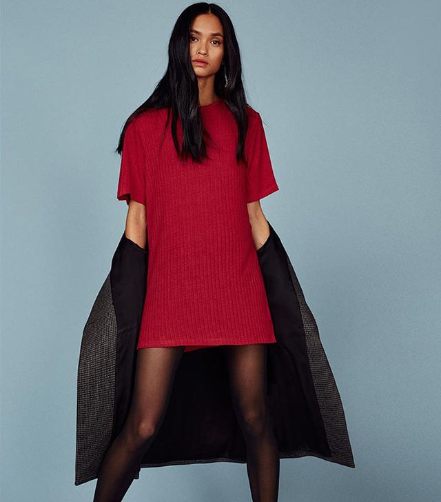Reformation Banbrook Dress In Cherry