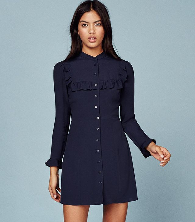 Reformation Maia Dress In Navy