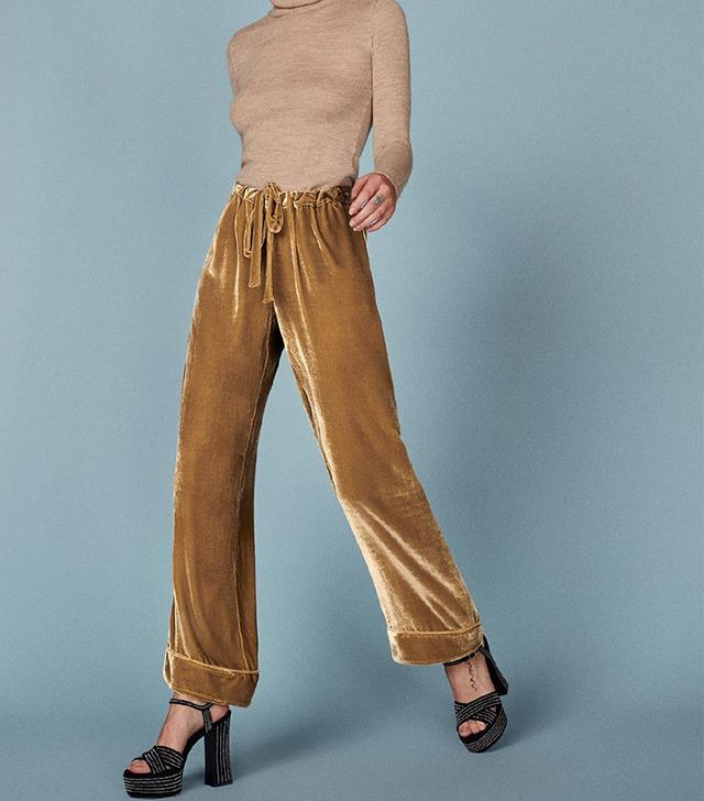 Reformation Nolan Pant In Gold