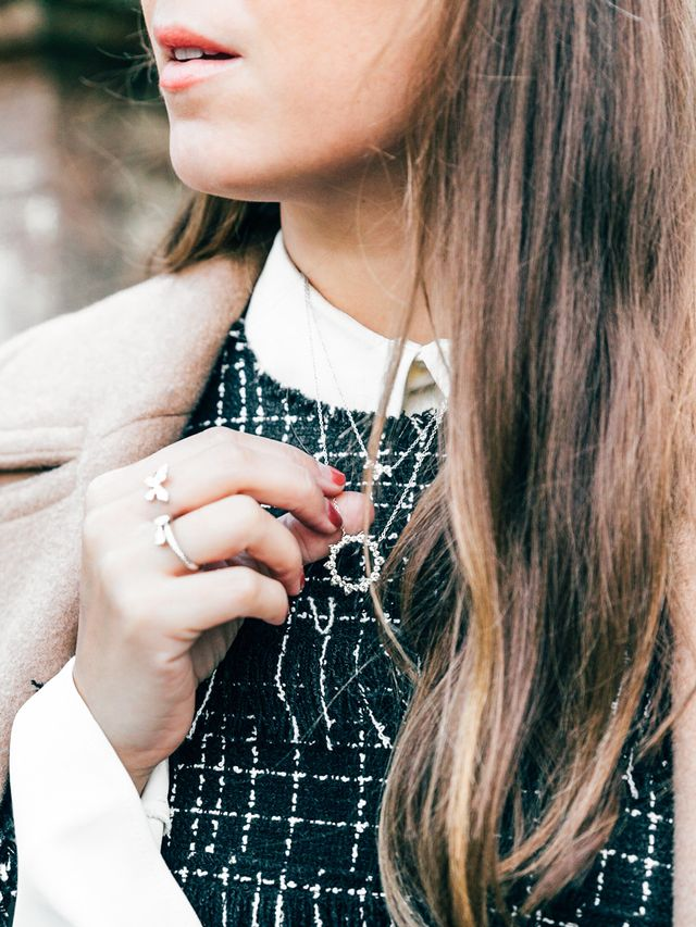 """Even when her date-night plans are of the more laid-back variety, Cipoletti always adds jewelry to her outfit. """"I truly feel naked when I'm not wearing any,"""" she shares. But you don't want..."""