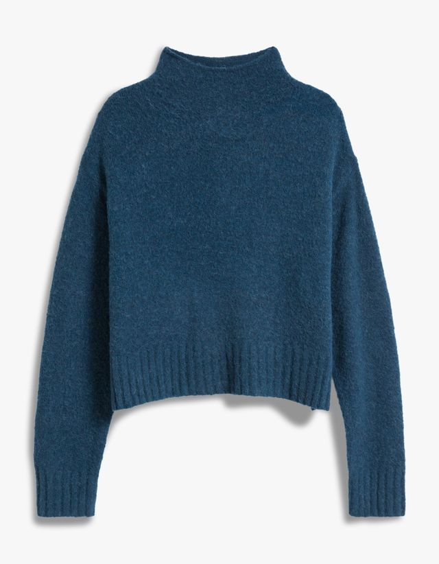 T by Alexander Wang Mock Neck Cropped Pullover