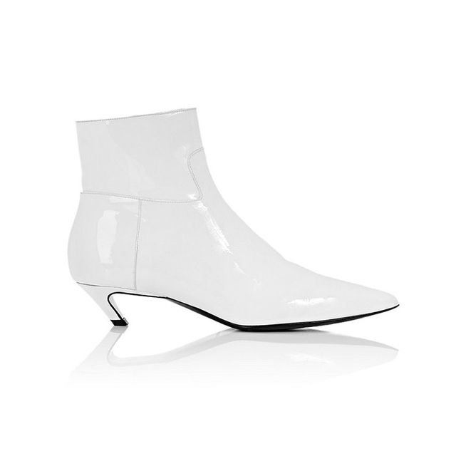 Balenciaga Broken Heel Patent Leather Ankle Boots