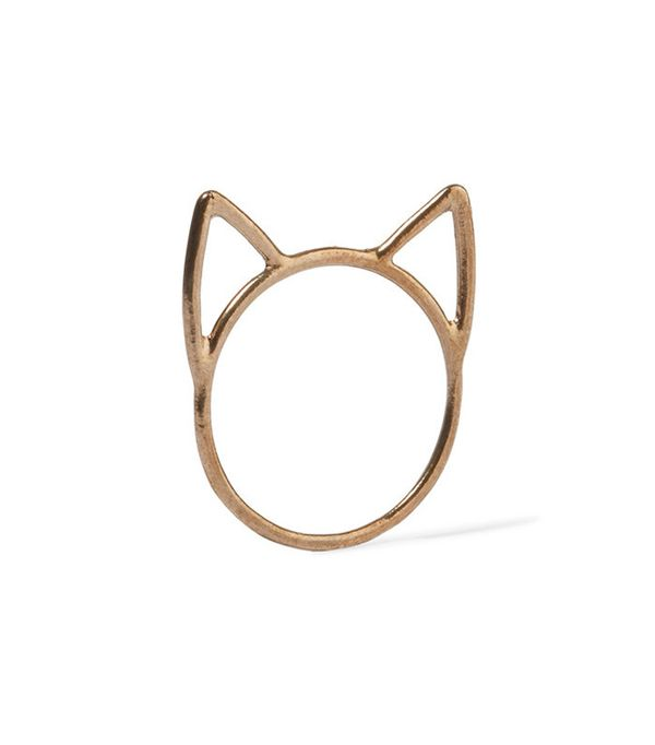 Catbird Lovecats Gold-Tone Ring