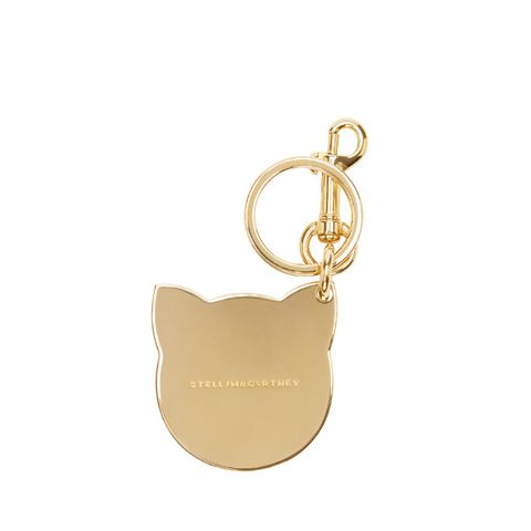 Gold Cat Keychain