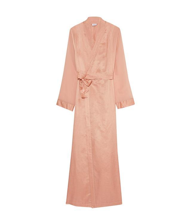 La Perla Jazz Time Silk Chiffon-Trimmed Cotton-Muslin Robe