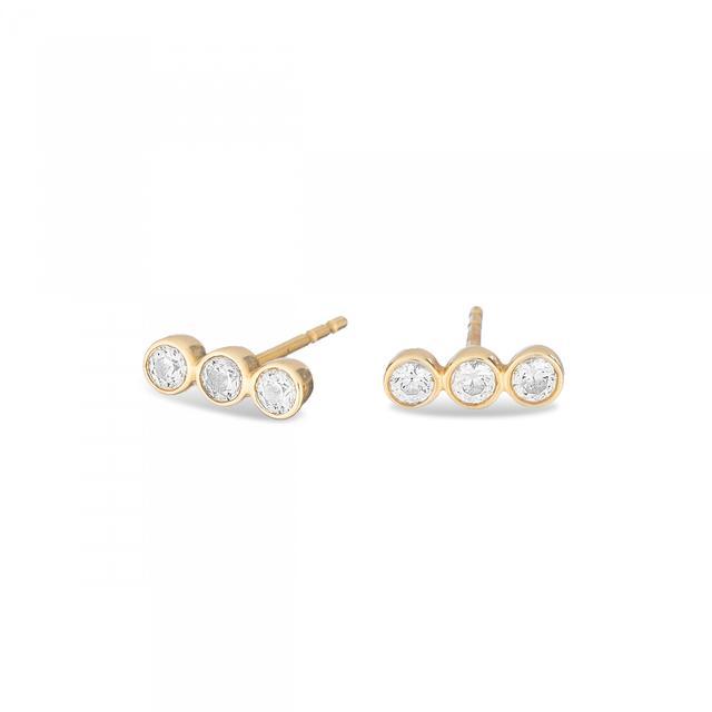 Damsel x Adina Reyter 14K Gold Bezel Earrings