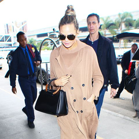 Chrissy Teigen Can't Stop Wearing This Outerwear Piece