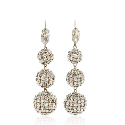 Swarovski Crystal Ball Drop Earrings