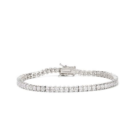 Silver-Plated Cubic Zirconia Bracelet