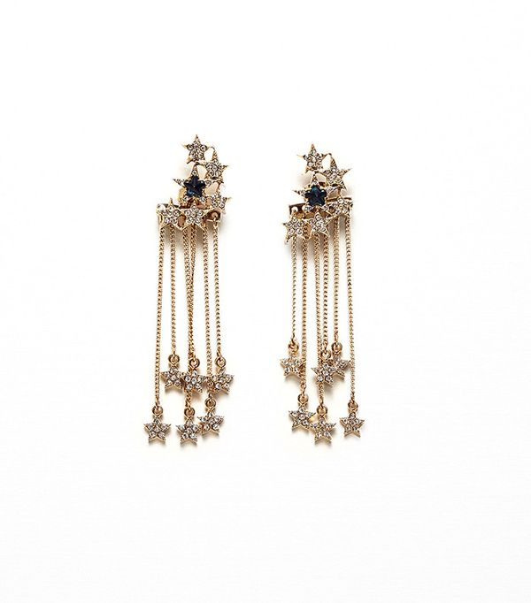 Zara Long Star Earrings