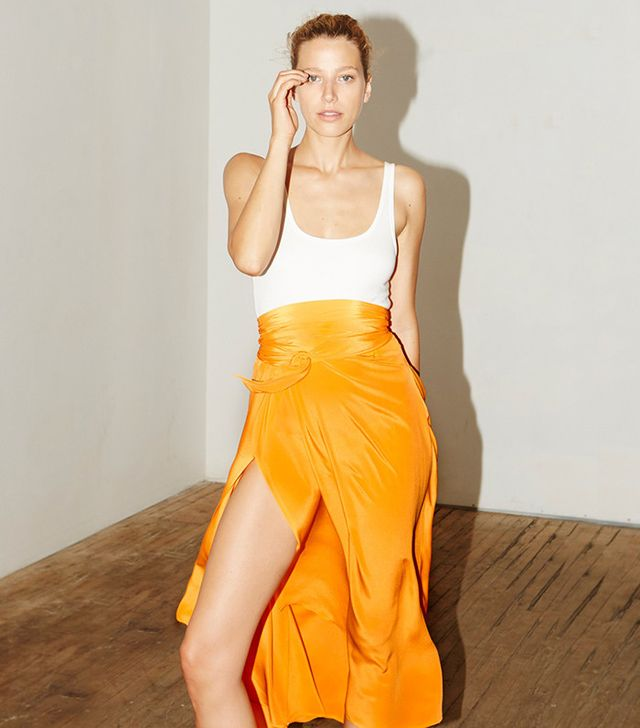 Datura Citric Orange Alma Skirt
