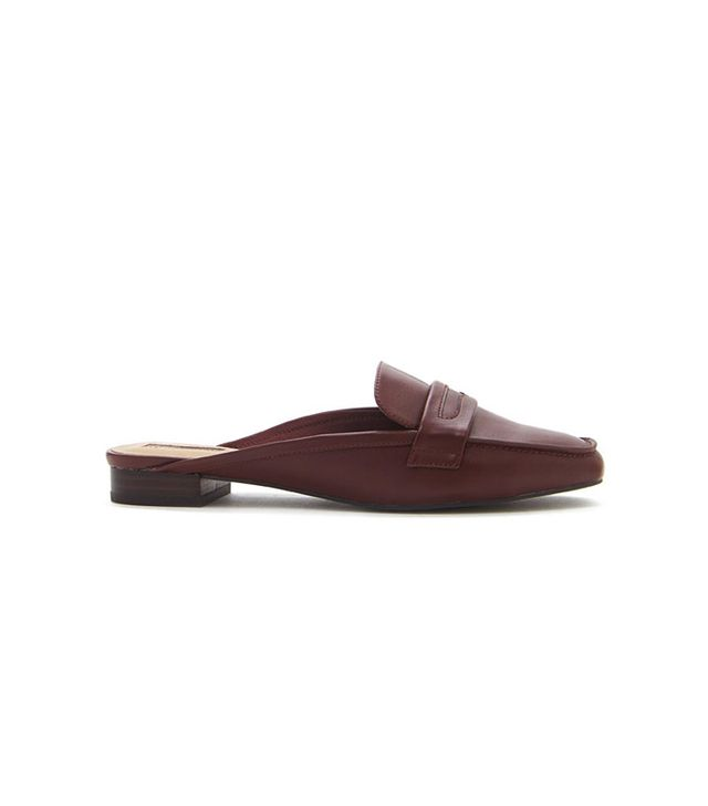 Forever 21 Faux Leather Loafer Mules