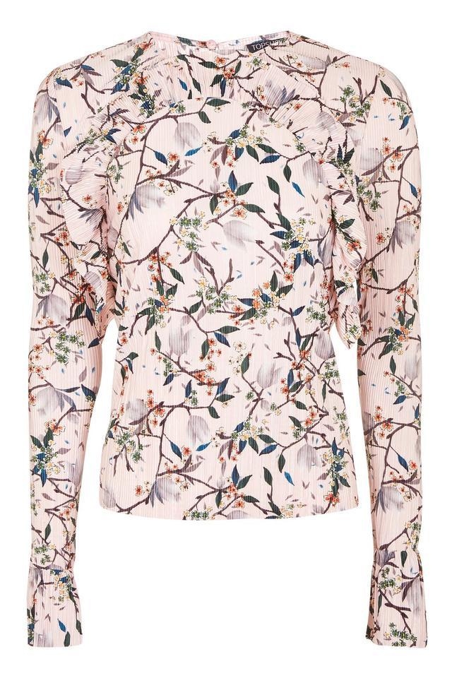 Proenza Schouler Floral-Print Crepe Peplum Top