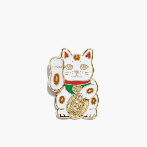 Lucky Cat Emoji Pin