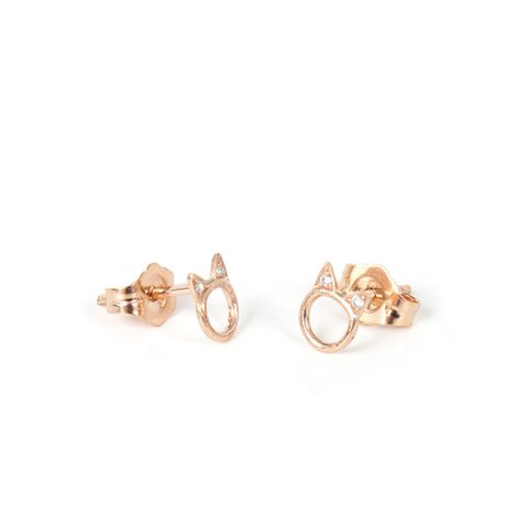 Choupette Earring Single in Rose Gold