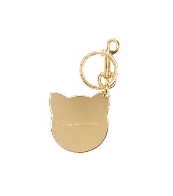 Stella McCartney Gold Cat Keychain