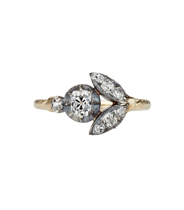 Vintage The Antique Mini Diamond Flora Ring