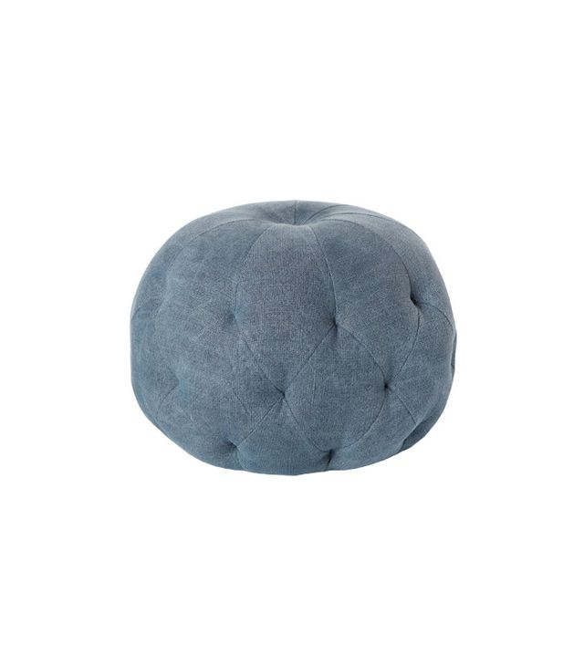 Cisco Home Pouf Brevard Aged Indigo