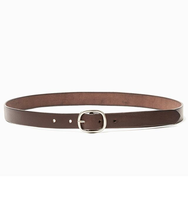 Maximum Henry Slim Oval Belt in Mahogany