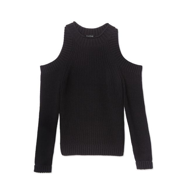 bebe Cold Shoulder Sweater