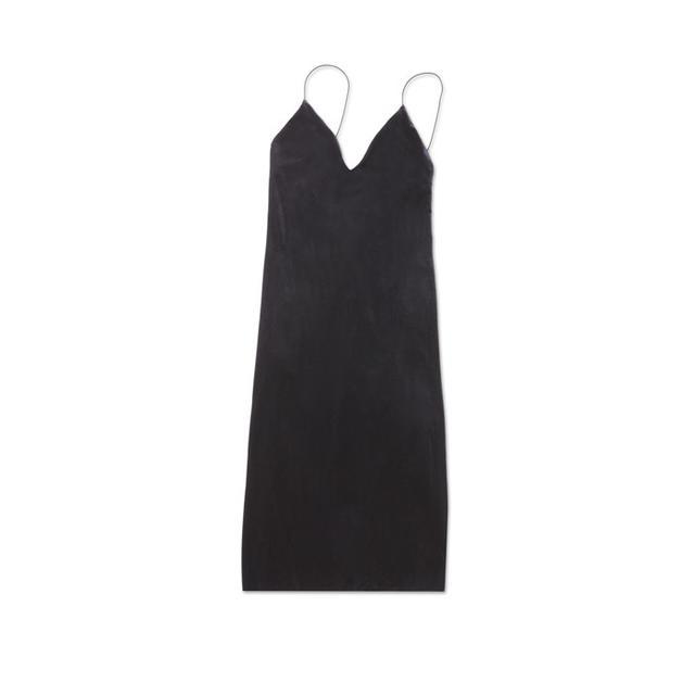 bebe Mara Velvet Slip Dress
