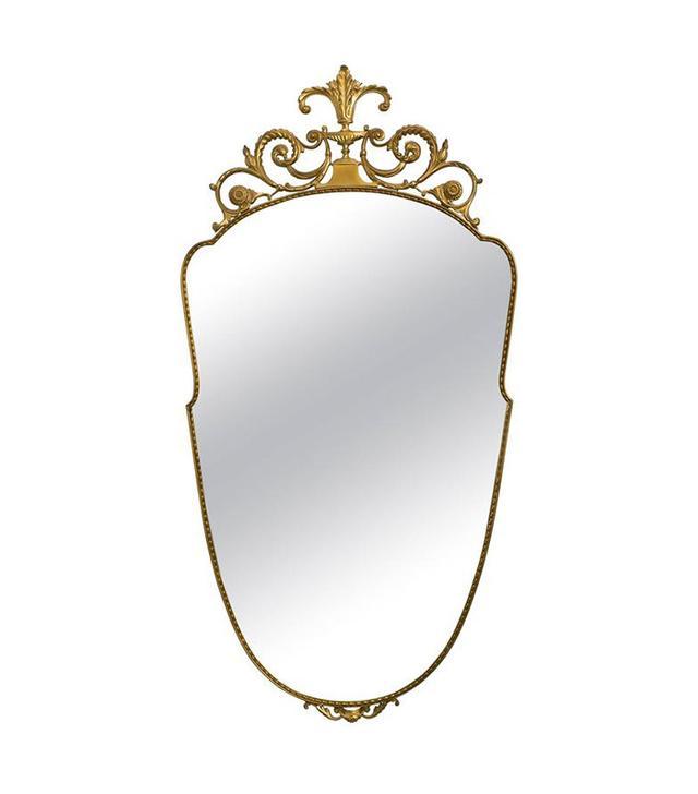 Carol Master Italian Brass Wall Mirror