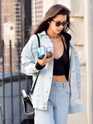 Skinny-Jean Haters Will Love This Bella Hadid Look