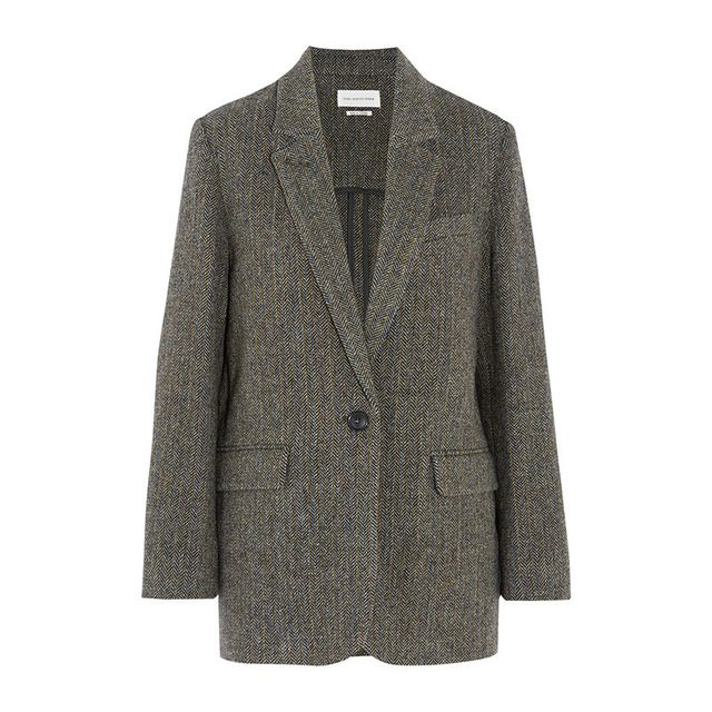 Isabel Marant Halden Herringbone Wool-Tweed Blazer
