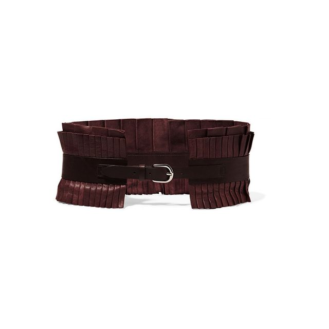 Isabel Marant Fauna Pintucked Leather Belt