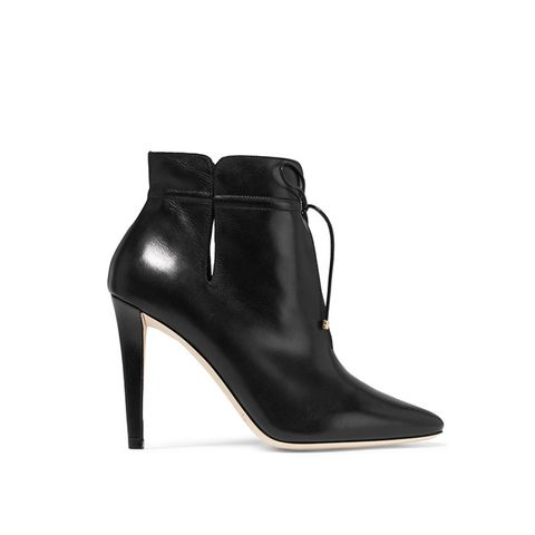 Murphy Cutout Leather Ankle Boots