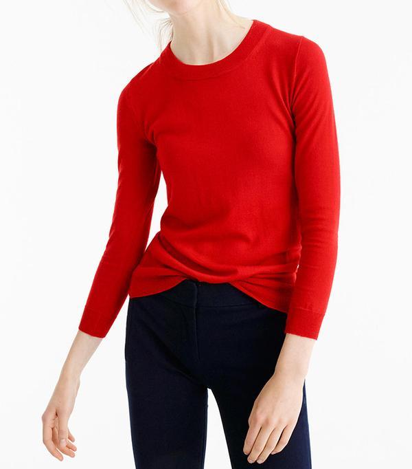 J. Crew Tippi Sweater in Dark Poppy
