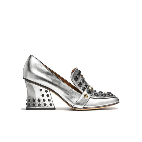 High Vamp Loafer with Studs