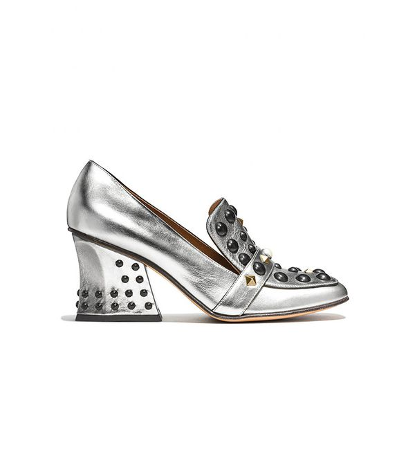 Coach High Vamp Loafer with Studs