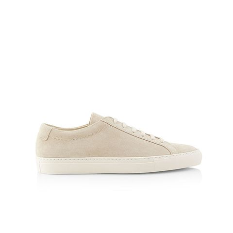 Off White Suede Low Top Achilles Sneakers