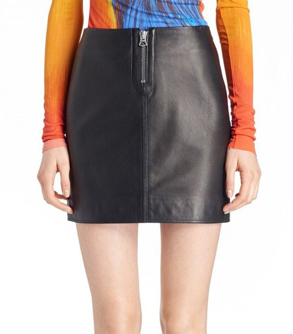 Acne Studios 'Franca' Leather Miniskirt