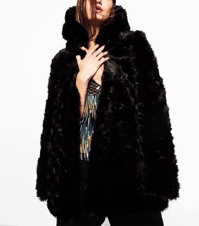 Zara Coat with Faux Fur Hood