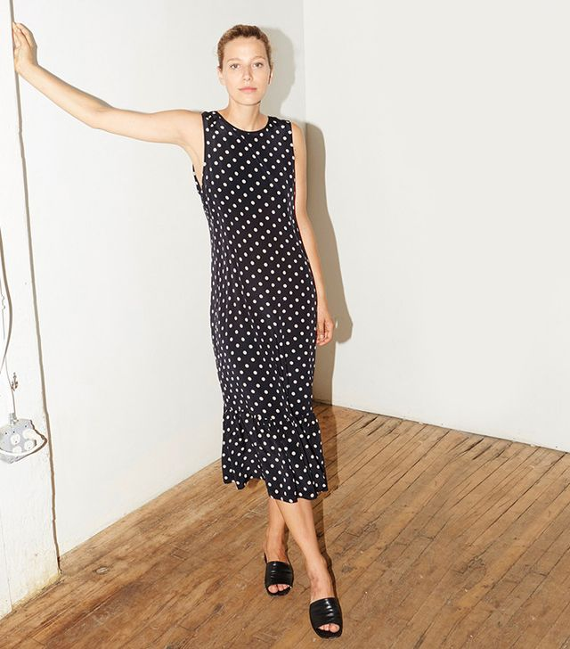 Datura Polka Silk Carmen Dress