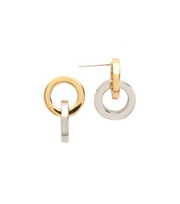 Rebecca Minkoff Two Tone Earrings