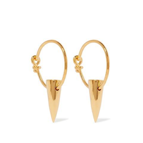 Tusk Gold-Plated Earrings