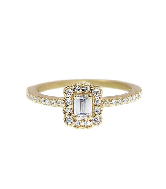 Megan Thorne Mosaic Emerald Cut Ring - Yellow Gold