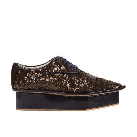 Sequin Flatform Derby Shoes