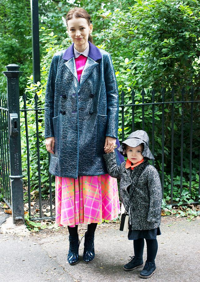 A rain hat and coat are not only adorable, but quite functional, as well.