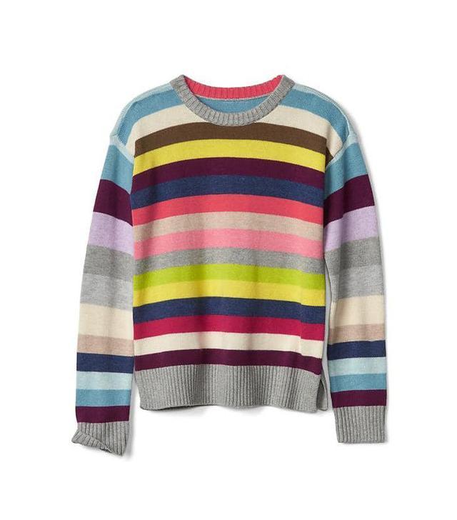Gap Cray Stripe Crew Sweater