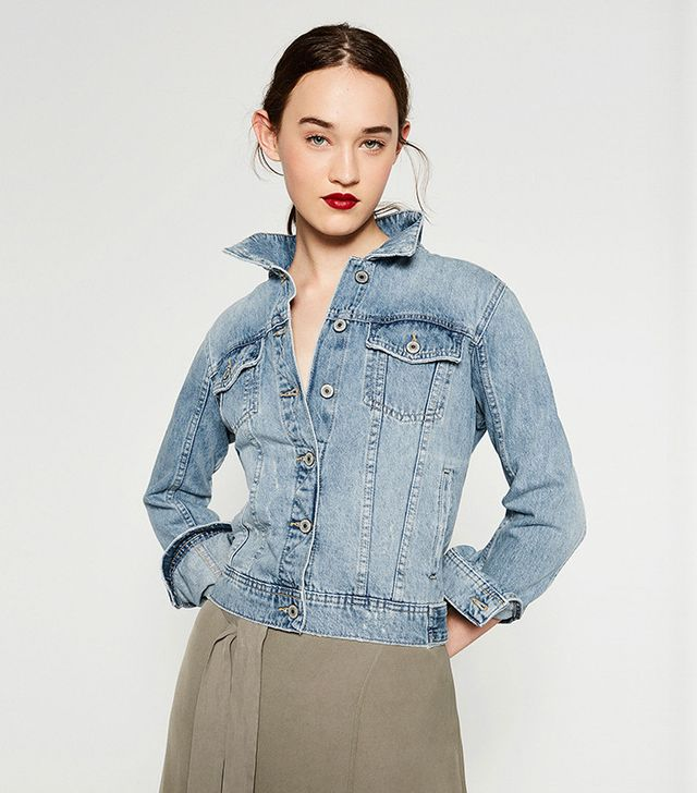 Zara Bleach Wash Denim Jacket