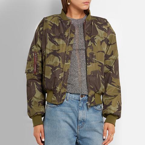Camouflage Shell Bomber Jacket
