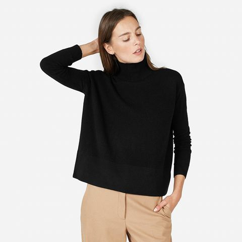 Cashmere Square Turtleneck