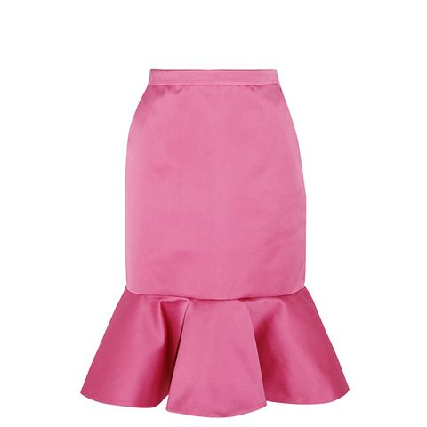 Dante Ruffled Duchesse-Satin Skirt
