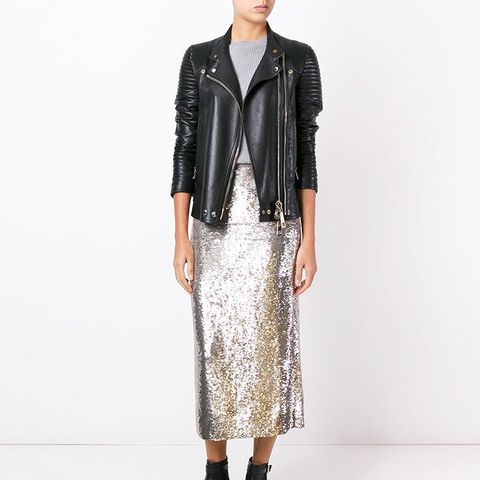 Flared Metallic Skirt