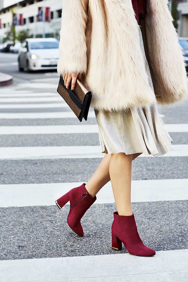 Who What Wear Cora Micro Ankle Boots ($40)